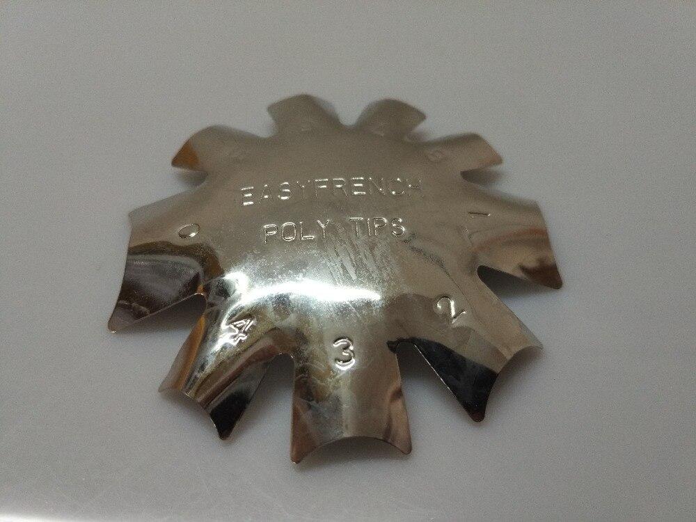 ̀ •́ 1x hierro inoxidable metal fácil tortuga Conchas francés nail ...