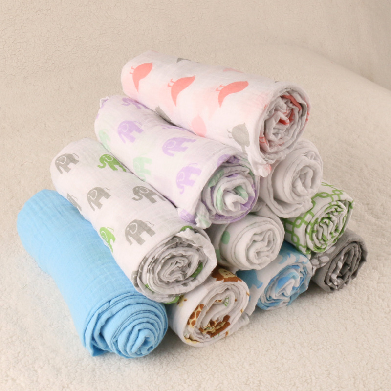 Baby Muslin Blanket 100%Cotton Baby Swaddle Blankets Set, 47