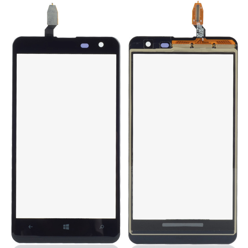 1 Piece Black Outer Glass Panel Touch Screen Digitizer Replacement Part For Nokia Lumia 625 4.7 Inch P0.16
