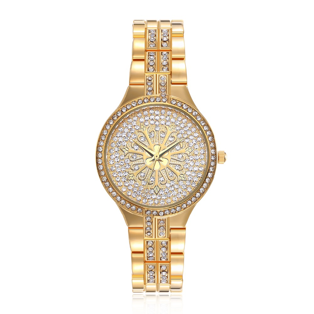 New arrivals Full Crystals Luxury Ladies Watch Wrist Bracelet Watches for Women Stones Dial Christmas Gift free drop shipping 2