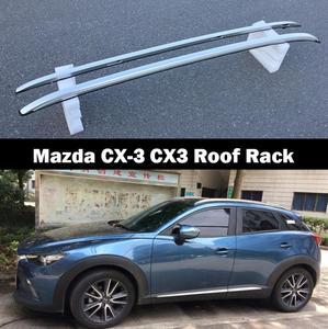 Для Mazda CX-3 CX3 2016 2017 2018 2019 серебристый Топ из алюминиевого сплава рейки для крыши боковые бруски украшения отделка автомобильные аксессуары