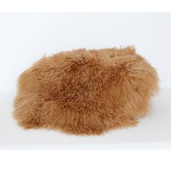 Fluffy Wool Curly Merino Blanket Wooden Basket Stuffer Filler Newborn Wool Felt Layer Photography Prop Flokati Rug Blanket Layer