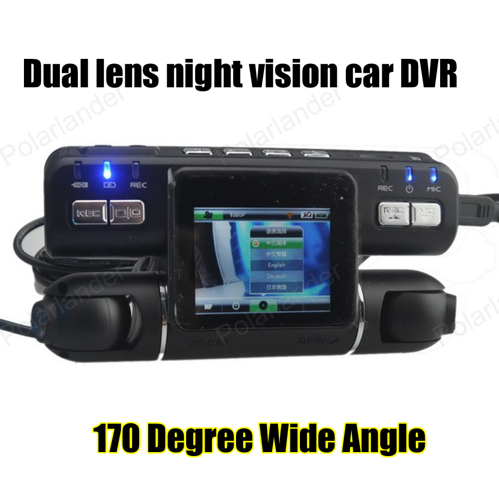 2015 Liteon I4000 New Style Car DVR Recorder 2x140 Degree Wide Angle Dual Lens 720P Full