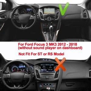Image 2 - TAIJS cubierta para salpicadero de coche alfombrilla antideslizante para salpicadero de Ford Focus 3 MK3 2012 2013 2014 2015 2016 2017 2018
