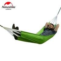 Naturehike Portable Outdoor Picnic Hammock Camping Hammock Parachute Fabric Hanging Bed Sleeping Travel Camping Hammocks Swing