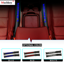 For Mitsubishi Lancer Car Seat Gap Plug PU Leather Filler Spacer Storage Slot 2Pcs Red Blue White