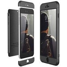 Роскошный Жесткий чехол из поликарбоната для iPhone 8 7 6 6s plus X Xs Ma чехол 5 5S Se 360 бампер противоударный чехол для iPhone XR чехол s Защита