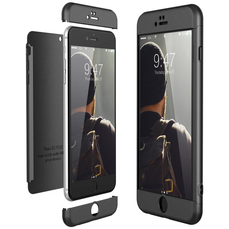 Luxury Hard PC <font><b>Case</b></font> For <font><b>iPhone</b></font> 8 7 6 6s plus <font><b>X</b></font> <font><b>Xs</b></font> Ma <font><b>Case</b></font> 5 5s Se 360 <font><b>Bumper</b></font> Shockproof <font><b>Case</b></font> for <font><b>iPhone</b></font> XR <font><b>Cases</b></font> Cover Protect image