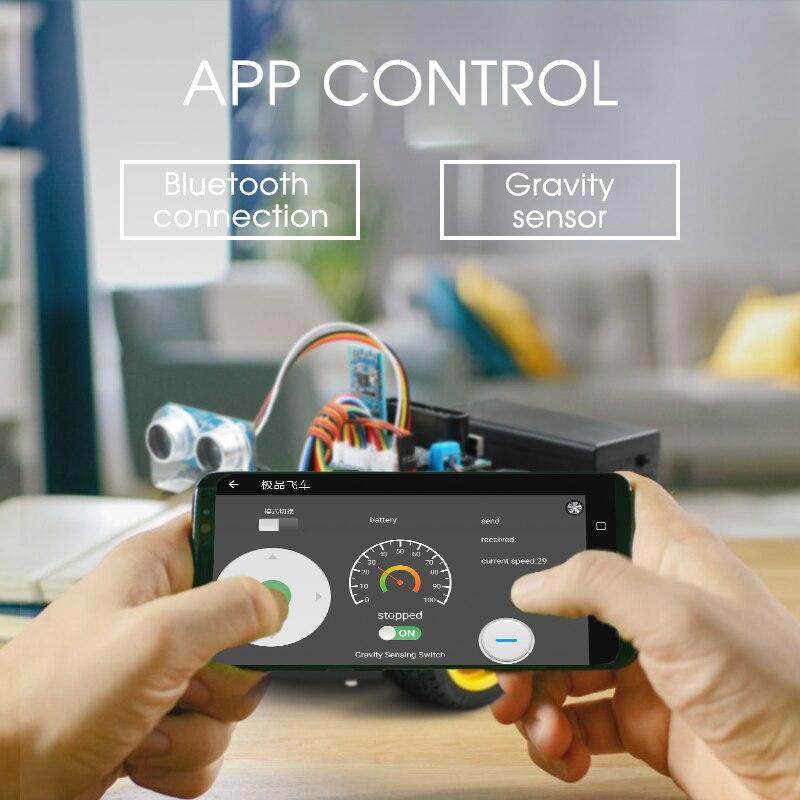 Emakefun pour Arduino Robot 4WD voitures APP RC télécommande Bluetooth robotique Kit d'apprentissage tige éducative jouets pour enfants enfant - 5