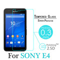Hot-selling 0.3mm 9H 2.5D Premium Explosion Proof Tempered Glass For Sony E4 5'' Screen Protector film with clean kits