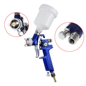 Image 3 - 1mm Mini HVLP Air Paint Spray Gun Auto Car Detail Touch Up Sprayer Gravity Repair