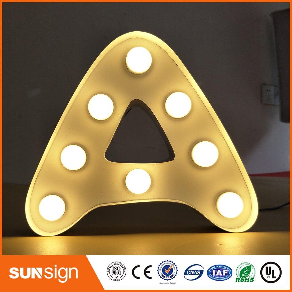 AliExpress производитель frontlit светодиодный светильник из нержавеющей стали буквенный знак для магазина