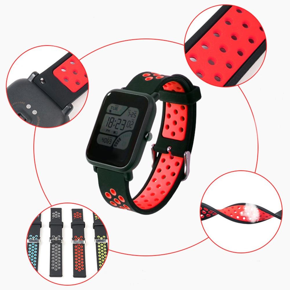 Новый Силиконовый ремешок для часов Ремешок дышащий браслет запасные части для Huami Youth Amazfit Bip/huawei Watch2
