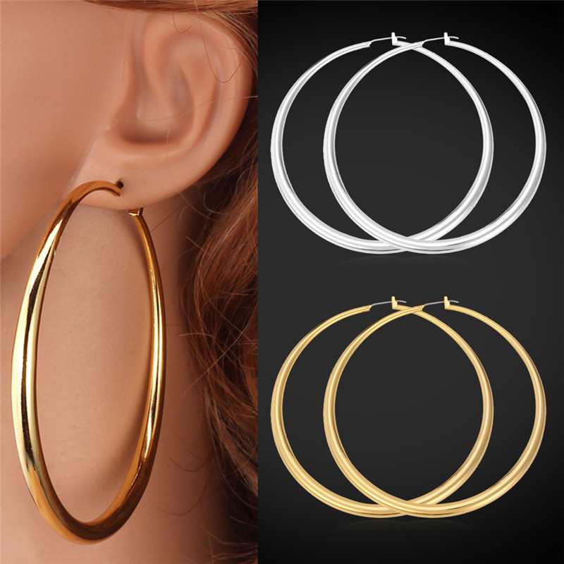 Collare Hoop Earrings For Women Gift Gold Silver Color Whole Fashion Jewelry E132 In From Accessories On