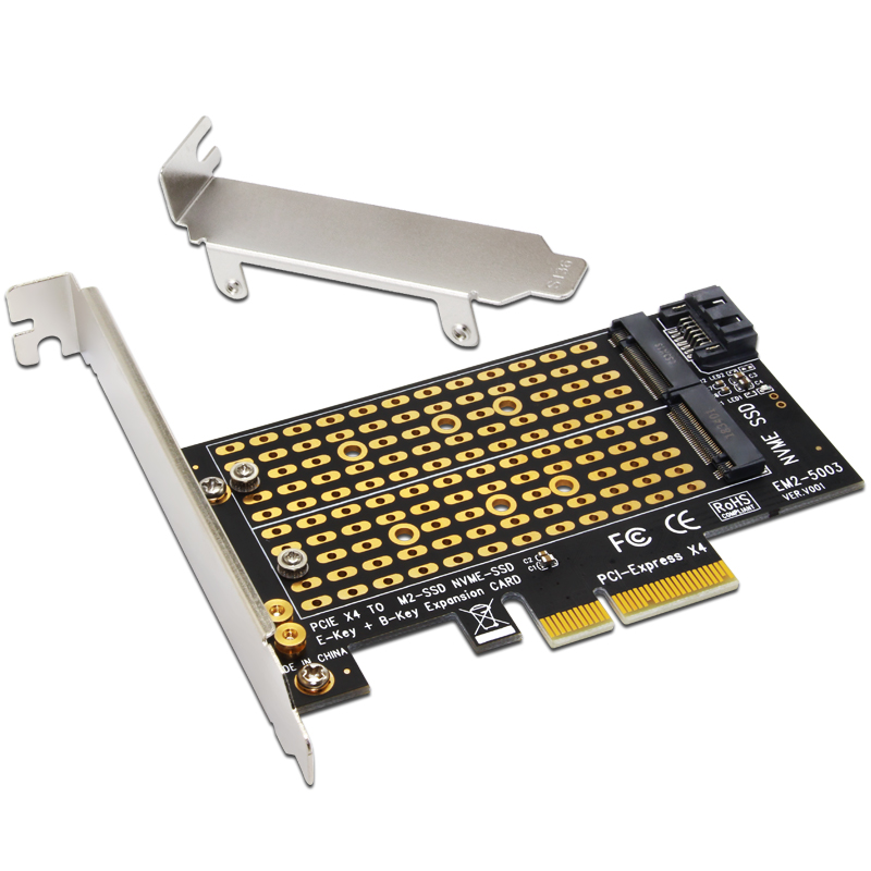 H1111Z Add On Cards PCIE to M2/M.2 Adapter SATA M.2 SSD PCIE Adapter NVME/M2 PCIE Adapter SSD M2 to SATA PCI-E Card M Key +B Key(China)