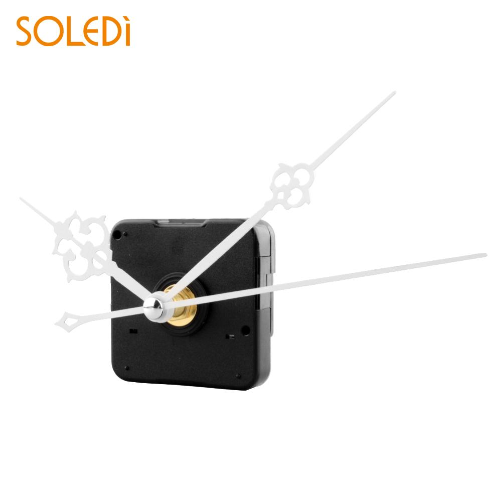Clock Quartz Movement Mechanism White Hand Replacement Part Repair Kit