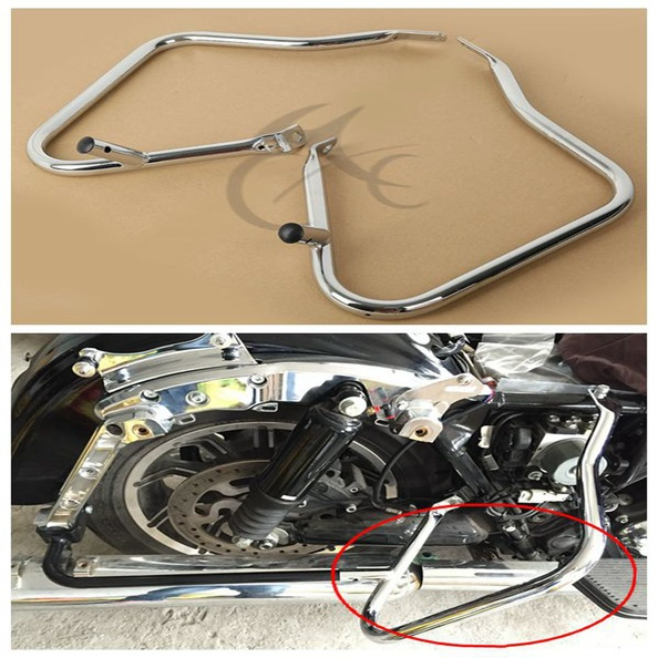цены на Chrome Saddlebag Guard Bracket For Harley Touring Electra Glide Road King 14-16 в интернет-магазинах