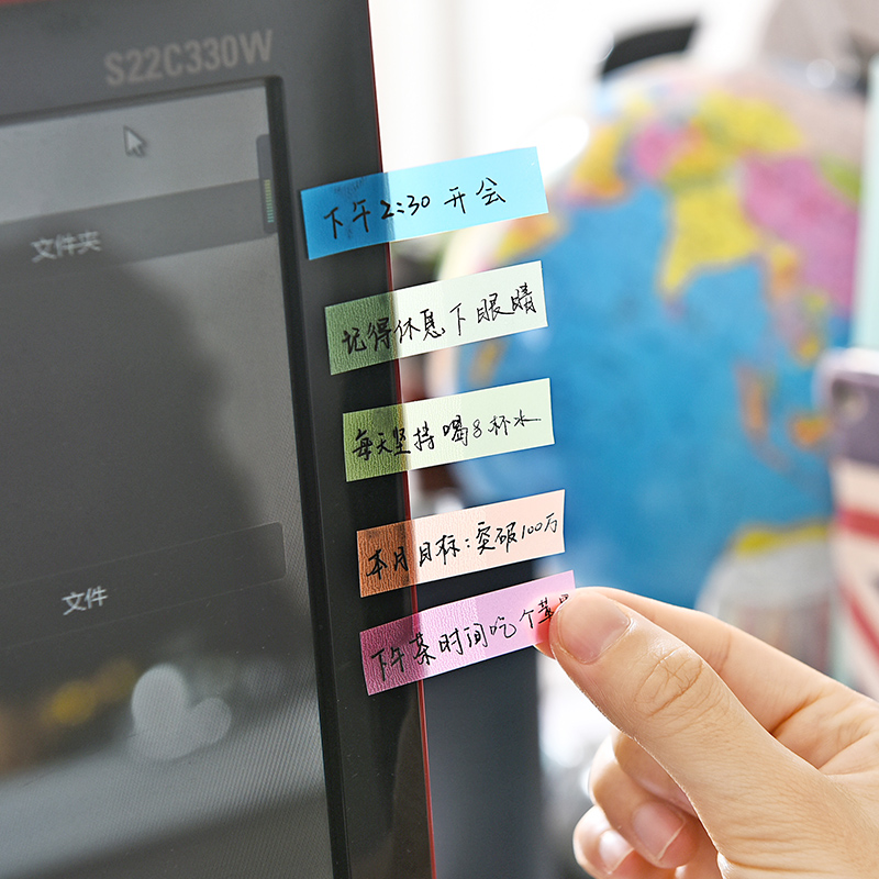 Seite Marker Sticky Notes Pad Fluoreszenz Farbe Stick Marker Buch ...