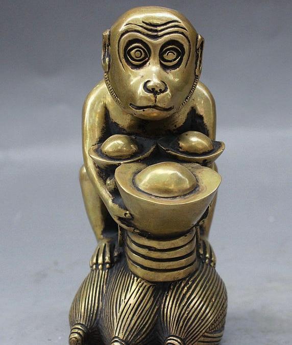 China/'s archaize brass zodiac monkey Small statue