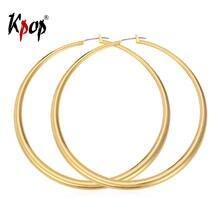 Большие серьги кольца большие женская бижутерия золотистые/серебристые