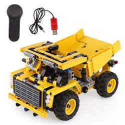 Новая городская серия Инженерный пульт дистанционного управления минная модель радиоуправляемого грузовика строительные блоки Legoinglys