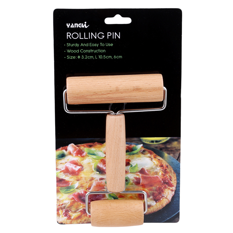 Heerlijk Keuken Gadget Koken Gereedschap Hout Gebak Pizza Roller Handdle Deegroller Keuken Bar Bakvormen Rolling Pins