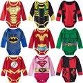 Baby Girl Boy Deadpool Superhero Bodysuit Mangas Compridas Macacão Mulher Maravilha Hulk Harley Quinn