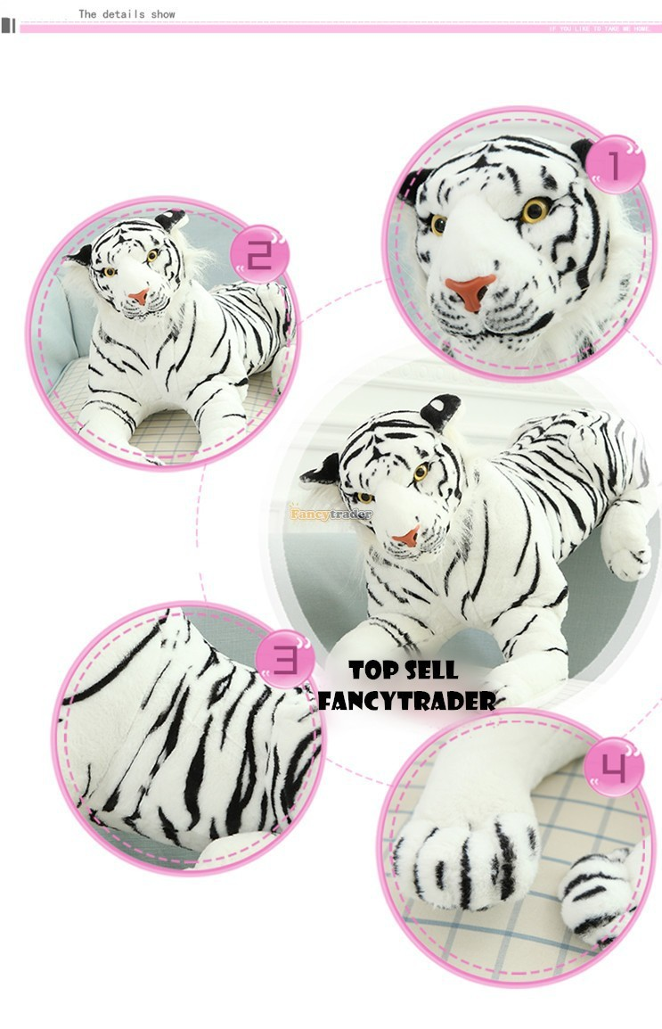 Fancytrader 51\'\'  130cm Giant Stuffed Emulational Tiger, 2 Colors Available, Free Shipping FT90241 (8)