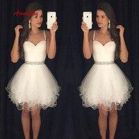 Sexy White Short Homecoming Dresses Plus Size Mini Semi Formal Graduation Cocktail Prom Party Dresses