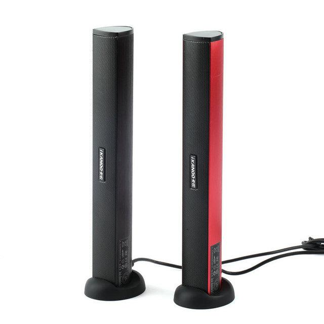 3.5mm usb power laptop notebook pc áudio soundbar speaker amplificador de áudio estéreo para fone de ouvido com suporte preto vermelho