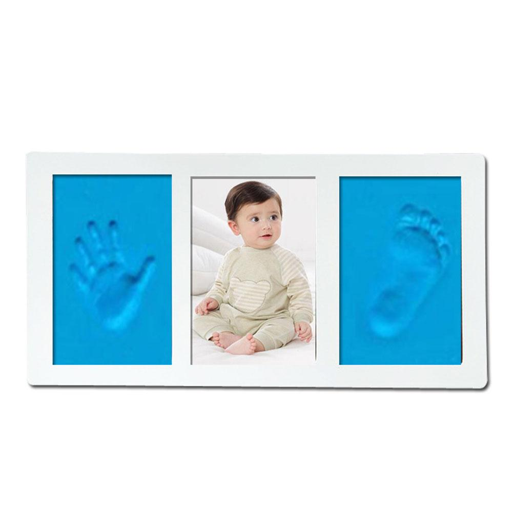 Newborn Baby Handprint Footprint Photo Frame Handprint Mud Suit Safe Clean Non-Toxic Clean Hand And Foot Ink Pad For Baby Gift
