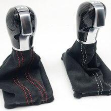 DSG ручка переключения передач из углеродного волокна с замшевыми сапогами для V W Golf 7 модификация автомобиля