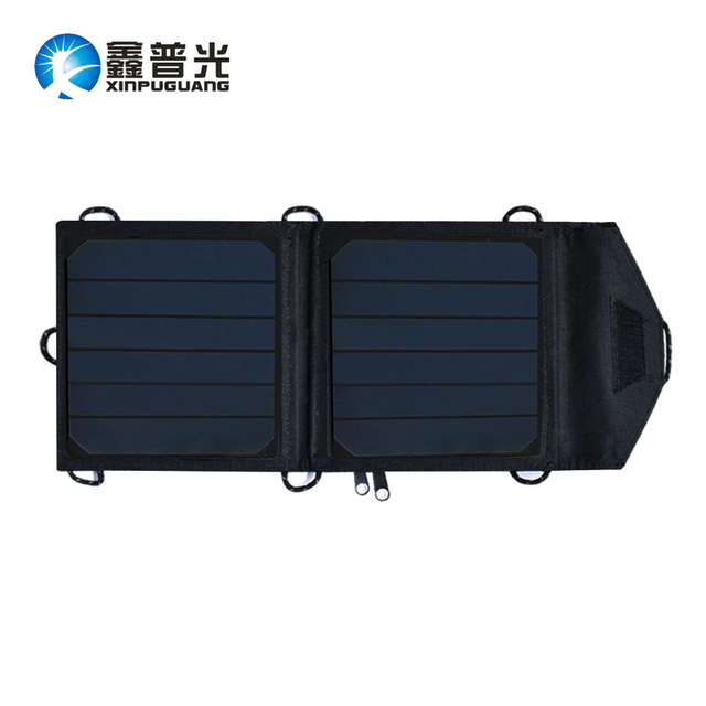 7W high efficiency foldable solar charger USB connector portable solar charging for mobile phone charger Power Banks solar panel