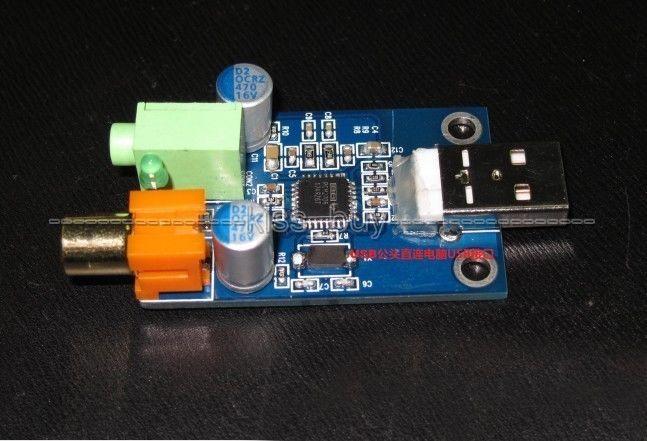 PCM2706 + TPA152 USB DAC Decoder USB to Coaxial Headphone Output USB Sound Card