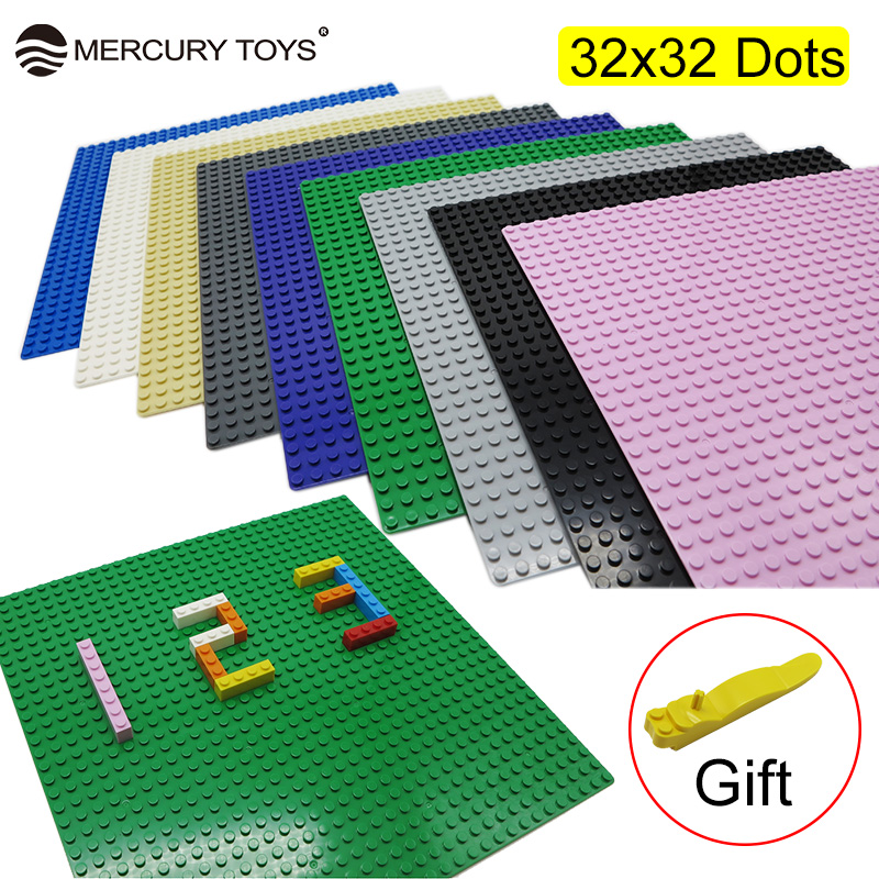 32*32 Dots Small Blocks Base Plate Not easy to break 1pcs Building Blocks DIY Baseplate Compatible with major brand for children new big size 40 40cm blocks diy baseplate 50 50 dots diy small bricks building blocks base plate green grey blue