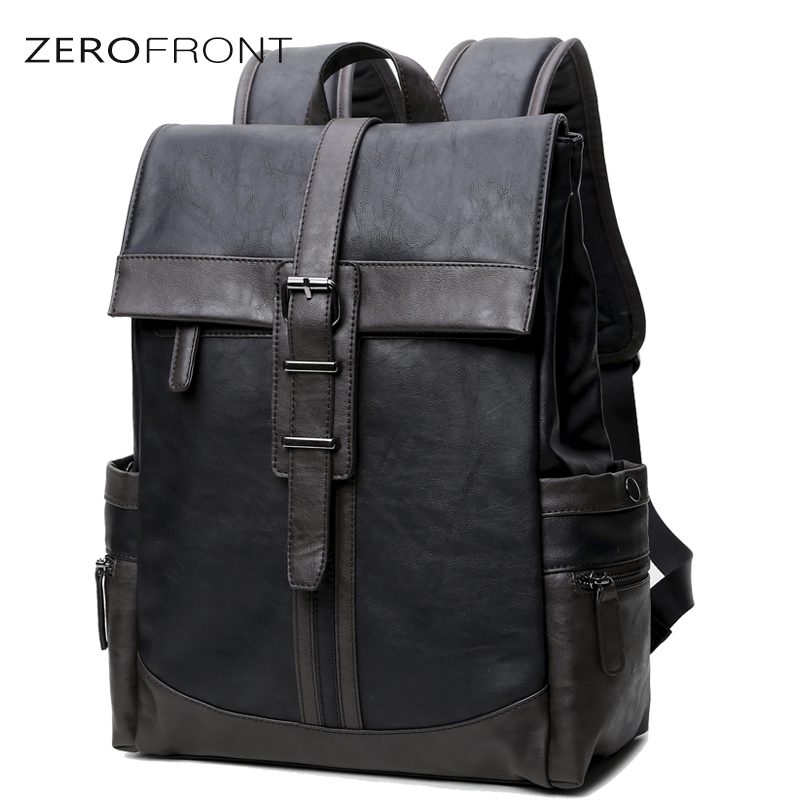 Men's PU Leather Backpack Large Capacity Youth Travel Rucksack School Book Bag Male' 15 inch Laptop Business bagpack mochila new brand swissgear waterproof backpack large capacity 16 5 17 inch laptop bag male bagpack rucksack