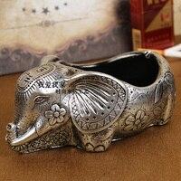 European Creative Elephant Ashtray,ornaments Ashtray Stainless Fashion Accessories Thailand Stainless Steel Ashtray
