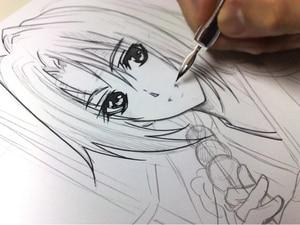 Image 5 - 5 Pieces / lot Manga Comic pen dip pen G pen set Anime Nib Tools Pro Drawing Art Supplies