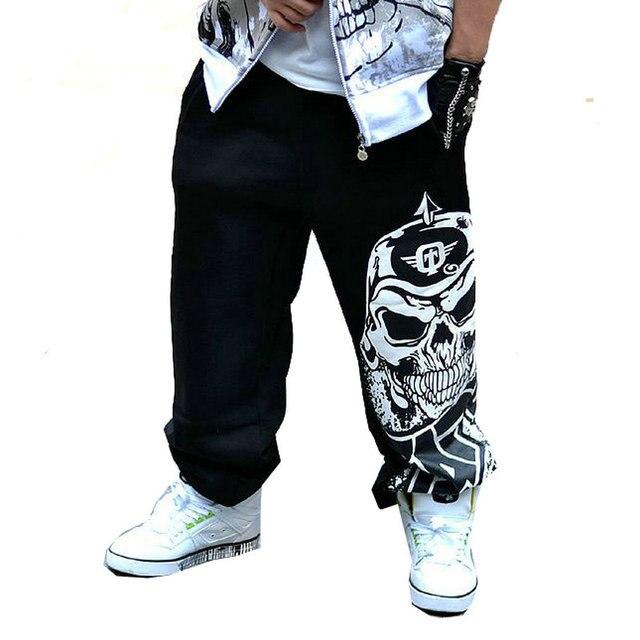 2017 moda hombre del motorista pantalones sueltos pantalones deportivos pantalones harem hombre swag de hip hop ropa de hombre gris negro