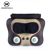 Angelruila Neck Massager Beat Kneading Shiatsu Cervical Massage Pillow Body Neck Shoulder Hip Waist Multifunction Massager