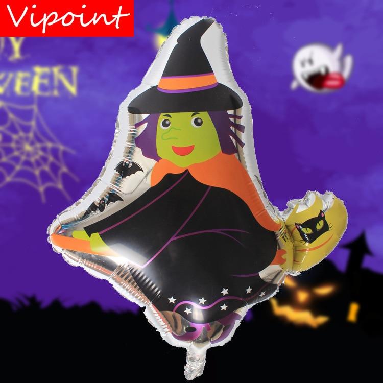 FESTA VIPOINT 67x59 cm preto bruxa fantasma balões foil casamento evento festival da festa de aniversário do dia das bruxas natal HY-254