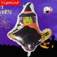 VIPOINT PARTITO 67x59 centimetri nero strega fantasma stagnola balloons wedding evento di natale festa di halloween festa di compleanno HY-254