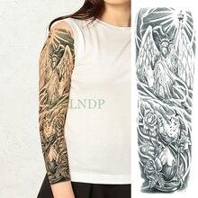 Водонепроницаемая временная татуировка наклейка Статуя Свободы Роза Птица полная рука временная татуировка большой флэш-тату рукав для мужчин и женщин Девушка