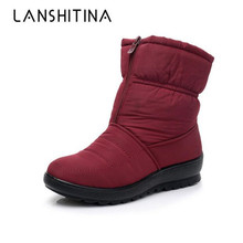 2019 Women Boots Waterproof Winter Mother Shoes Velvet Snow Boots Platform Warm Ankle Winter Boots With Thick Fur Botas Mujer new fashion bow snow boots women winter thick warm female ankle boots wild middle tube platform cotton shoes botas mujer 2018