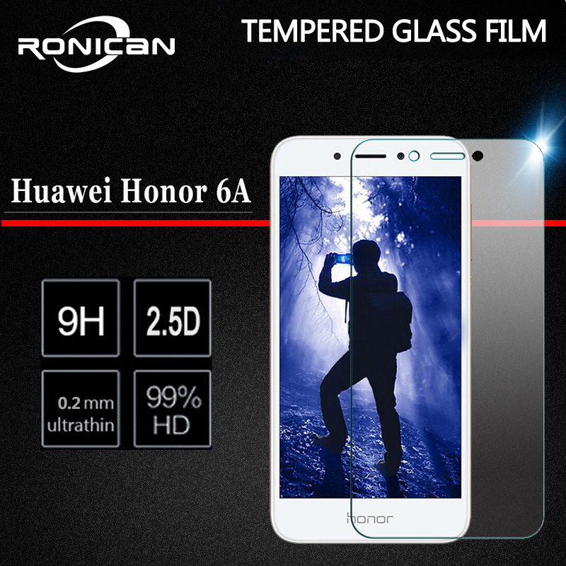 2Pcs Tempered Glass For Huawei Honor 6A Screen Protector Honor 6 A Glass Huawei Honor 6A DLI-TL20 DLI-AL10 Protective Film 5.0