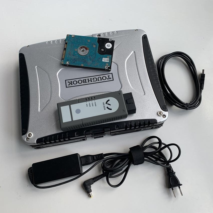 New VAG Diagnostic Tool VAS6154 ODIS 5.13 For V W For Audi For Skoda VAS 6154 Scanner With Laptop Cf19 Ready To Use