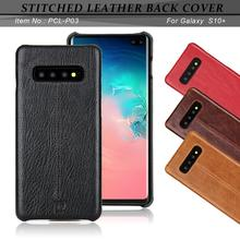 For Samsung Galaxy S10 Phone Case Pierre Cardin High Quality Ultra thin Genuine Leather Plus Back Cover