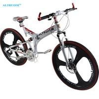 Altruism X6 24 Speed Aluminum Mountain Bike 26 Inch Steel Disc Brake Road Bike Bicycle Fashion