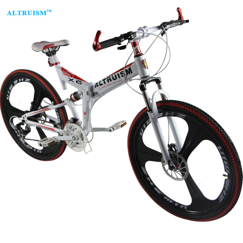 Altruism X6 24 Speed Aluminum Mountain Bike 26 Inch Steel Disc Brake Road Bike Bicycle  Racing Suspension Bicycles Bicicleta
