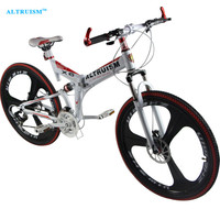 Altruism X6 24 Speed Aluminum Mountain Bike 26 Inch Steel Disc Brake Road Bike Bicycle Fashion